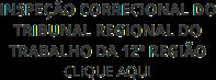 Inspeção Correcional do Tribunal Regional do Trabalho da 12ª Região